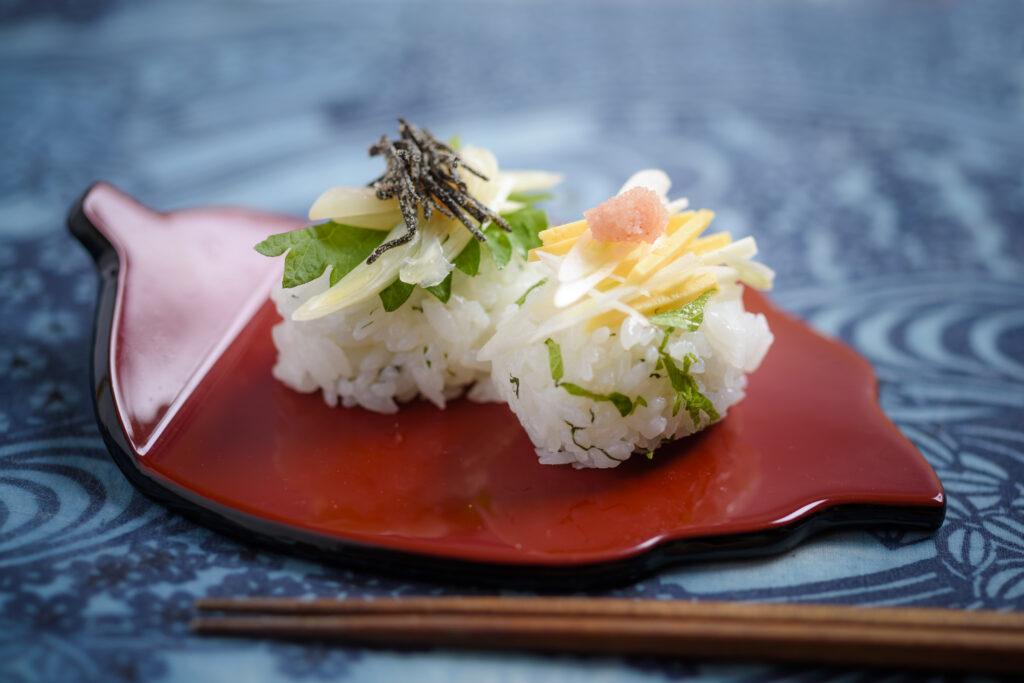 島らっきょうの握り寿司